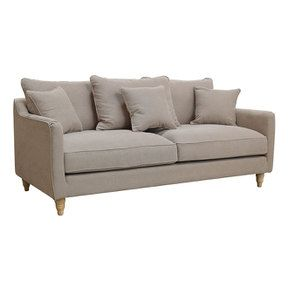 Canapé 4 places en tissu naturel - Rivoli - Visuel n°2