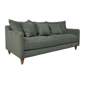 Canapé 4 places en tissu vert - Rivoli - Visuel n°1