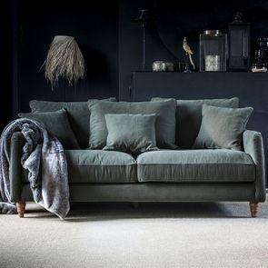Canapé 4 places en tissu vert - Rivoli