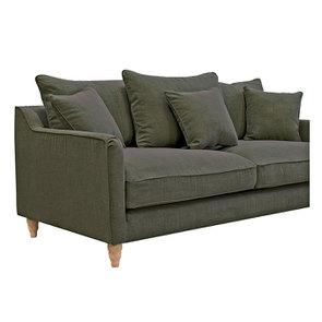 Canapé 4 places en tissu vert - Rivoli - Visuel n°5