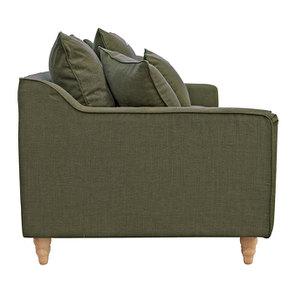 Canapé 4 places en tissu vert - Rivoli - Visuel n°9