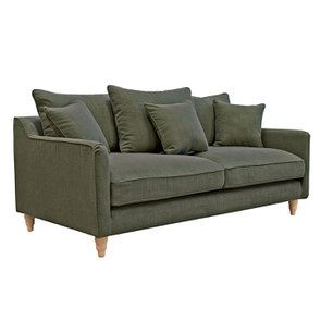 Canapé 4 places en tissu vert - Rivoli - Visuel n°8