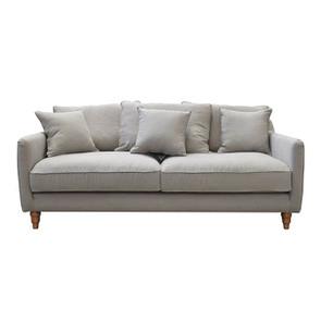 Canapé 4 places gris en lin froissé - Rivoli