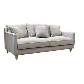 Canapé 4 places gris en lin froissé - Rivoli - Visuel n°3