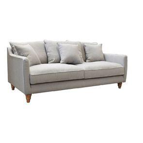 Canapé 4 places gris en lin froissé - Rivoli - Visuel n°2