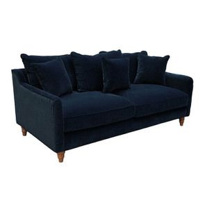 Canapé 4 places en velours bleu - Rivoli - Visuel n°4