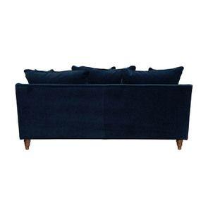 Canapé 4 places en velours bleu - Rivoli - Visuel n°5