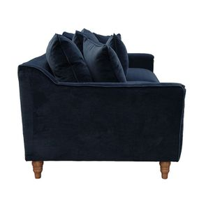 Canapé 4 places en velours bleu - Rivoli - Visuel n°7