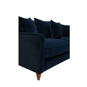 Canapé 4 places en velours bleu - Rivoli - Visuel n°8