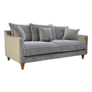 Canapé 4 places en velours gris taupe- Rivoli - Visuel n°2