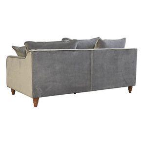 Canapé 4 places en velours gris taupe- Rivoli - Visuel n°5