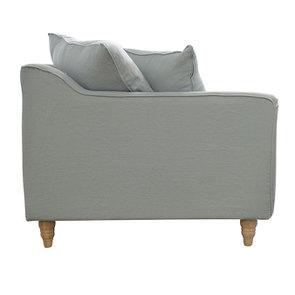 Canapé 4 places en lin froissé vert grisé - Rivoli - Visuel n°3