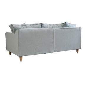 Canapé 4 places en lin froissé vert grisé - Rivoli - Visuel n°5