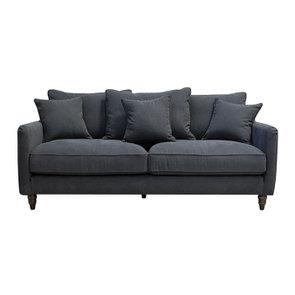 Canapé 4 places en velours noir - Rivoli