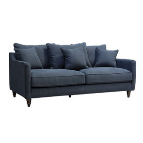 Canapé 4 places en tissu noir - Rivoli - Visuel n°2