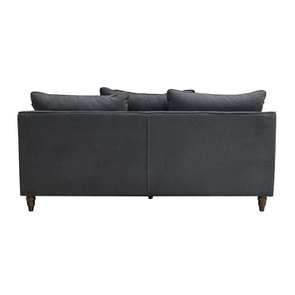 Canapé 4 places en tissu noir - Rivoli - Visuel n°4