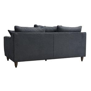 Canapé 4 places en tissu noir - Rivoli - Visuel n°5
