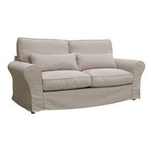 Canapé 3 places en tissu écru - Newport - Visuel n°2