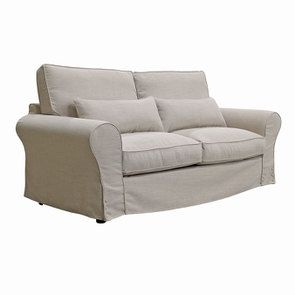 Canapé 3 places en tissu écru - Newport - Visuel n°4