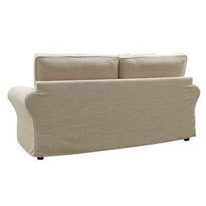 Canapé 3 places en tissu écru - Newport - Visuel n°7