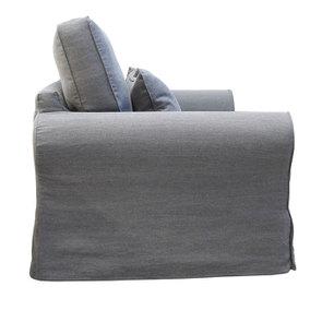 Canapé 3 places en tissu gris - Newport - Visuel n°3
