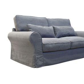 Canapé 3 places en tissu gris - Newport - Visuel n°6