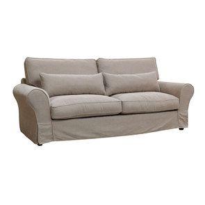 Canapé 4 places en tissu naturel - Newport - Visuel n°2