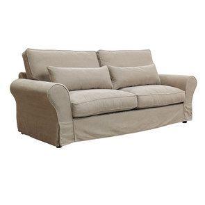 Canapé 4 places en tissu naturel - Newport - Visuel n°4