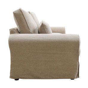 Canapé 4 places en tissu naturel - Newport - Visuel n°5