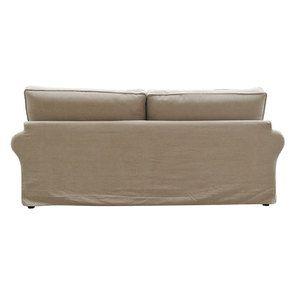 Canapé 4 places en tissu naturel - Newport - Visuel n°7