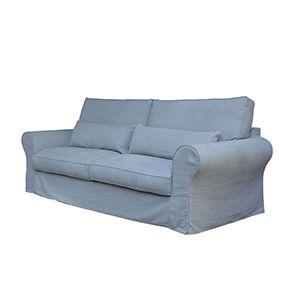 Canapé 4 places gris en tissu - Newport - Visuel n°6