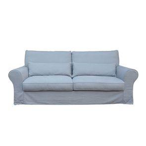 Canapé 4 places en tissu gris - Newport - Visuel n°1