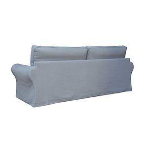 Canapé 4 places gris en tissu - Newport - Visuel n°8