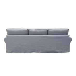 Canapé 5 places en lin froissé gris clair - Newport - Visuel n°4