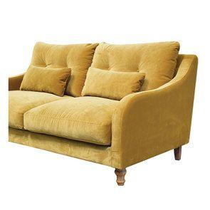 Canapé 3 places en velours moutarde - Vendôme - Visuel n°5