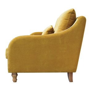 Canapé 3 places en velours moutarde - Vendôme - Visuel n°6