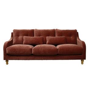 Canapé 4 places en tissu terre cuite - Vendôme - Visuel n°1