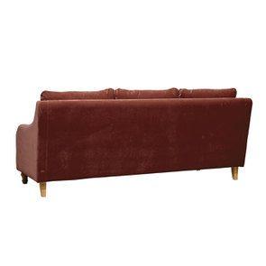 Canapé 4 places en tissu terre cuite - Vendôme - Visuel n°4