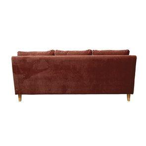 Canapé 4 places en tissu terre cuite - Vendôme - Visuel n°5