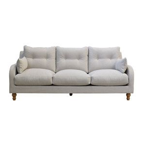 Canapé 4 places en tissu gris  - Vendôme - Visuel n°1