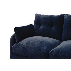 Canapé 4 places en velours bleu paon  - Vendôme - Visuel n°8