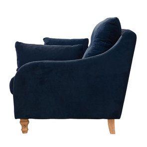 Canapé 4 places en velours bleu paon  - Vendôme - Visuel n°3