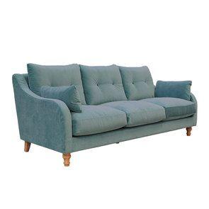 Canapé 4 places en velours turquoise  - Vendôme - Visuel n°3