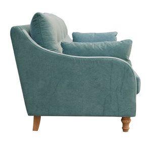 Canapé 4 places en velours turquoise  - Vendôme - Visuel n°4