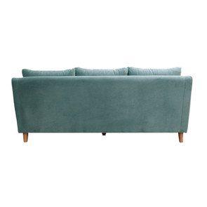 Canapé 4 places en velours turquoise  - Vendôme - Visuel n°5