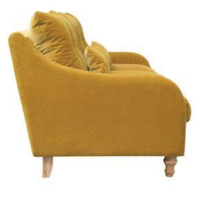 Canapé 4 places en velours moutarde  - Vendôme - Visuel n°3