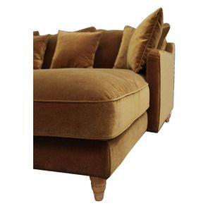 Canapé d'angle en velours bronze - Rivoli - Visuel n°12