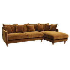 Canapé d'angle en velours bronze - Rivoli - Visuel n°2
