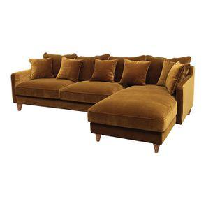 Canapé d'angle en velours bronze - Rivoli - Visuel n°3