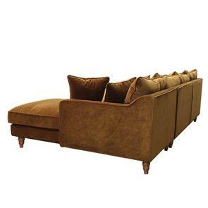 Canapé d'angle en velours bronze - Rivoli - Visuel n°5
